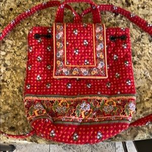 Vera Bradley small drawstring  backpack